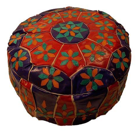 maroc ottoman handcrafted moroccan genuine leather ottoman pouf