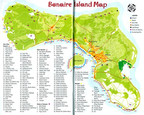 bonaire map bonaire maps scuba dive beaches and activities infolific