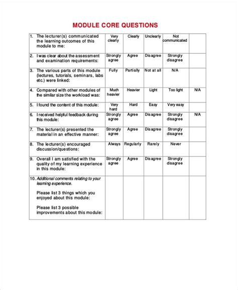 student satisfaction questionnaire template 21 free student feedback forms