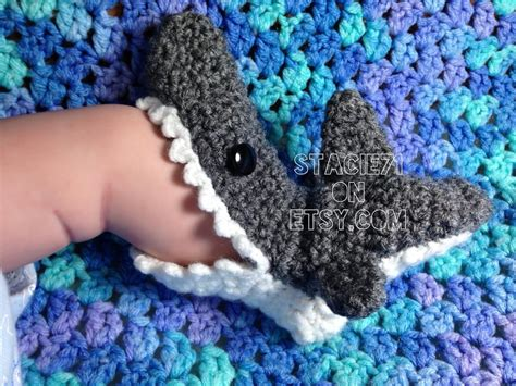 shark slippers crochet pattern crochet pattern shark slipper socks by stacie71 craftsy