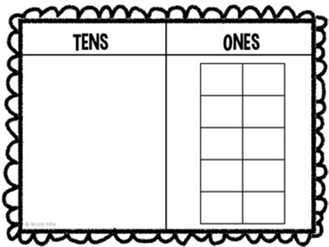 Tens And Ones Mat by This Mat Is The Way To Help Your Students Grasp