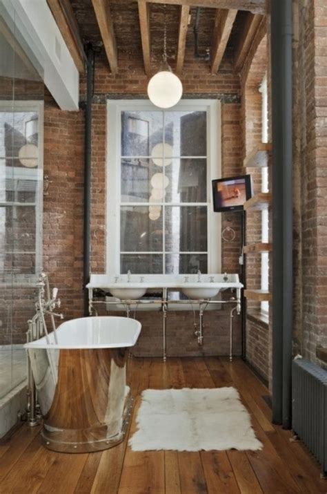 stylish bathroom 39 stylish bathrooms with brick walls and ceilings digsdigs