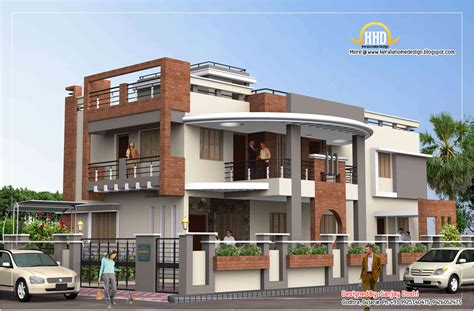 duplex building duplex house plan and elevation 4217 sq ft indian