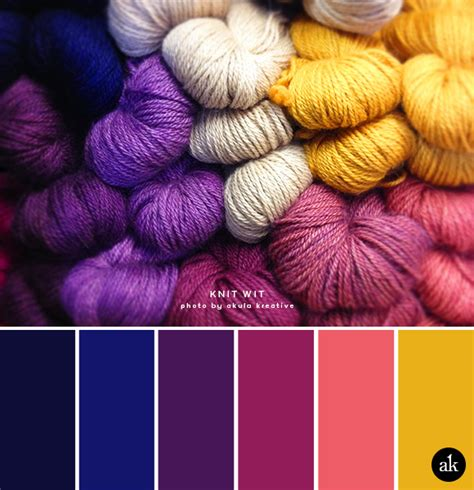 colour inspiration a yarn inspired color palette akula kreative color