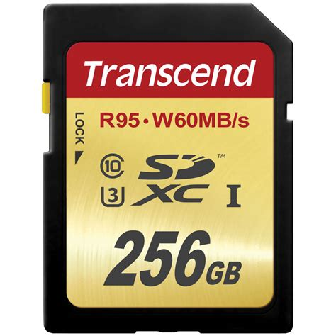 Memory Card 256gb Transcend 256gb Uhs 1 Sdxc Memory Card Speed Class 3