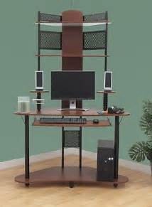 tower corner computer desk with hutch wood metal small corner tower computer desk hutch