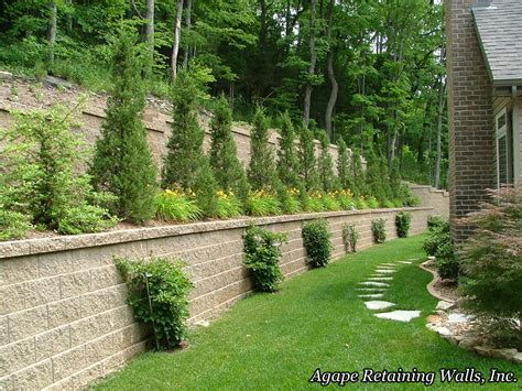 Retaining Wall Landscaping Ideas Agape Retaining Walls Inc Terrace Photo Album 2