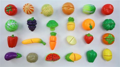 8 vegetables name learn fruits and vegetables names with velcro cutting