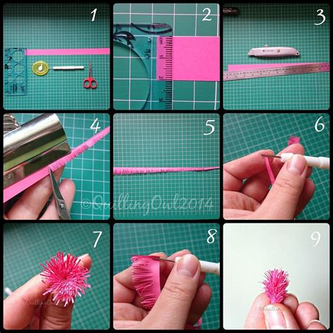 How To Make Quilled Paper - fringed flowers tutorial by quilling owl quilling