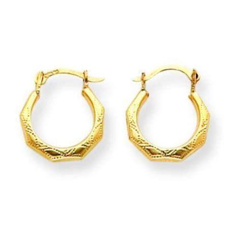 14k gold hoop earrings ebay