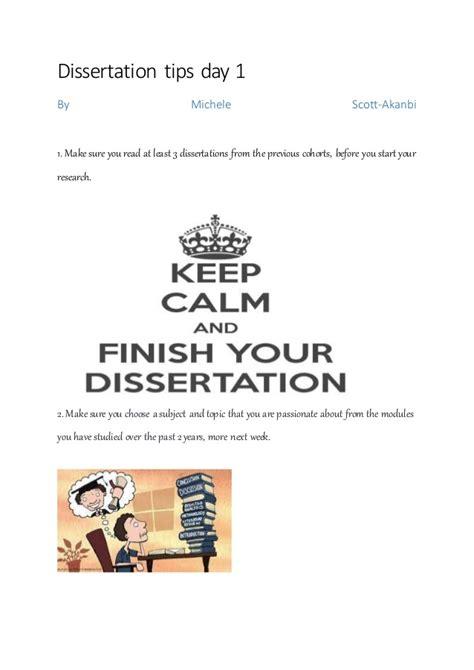 dissertation tips dissertation tips day 1