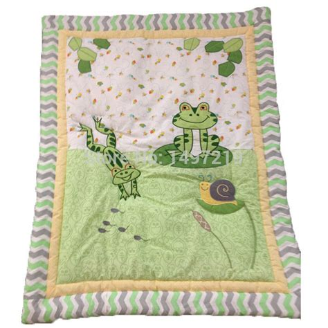 Free Baby Quilt Applique Patterns by Frog Pattern Baby Quilt Green Color Applique Design Free
