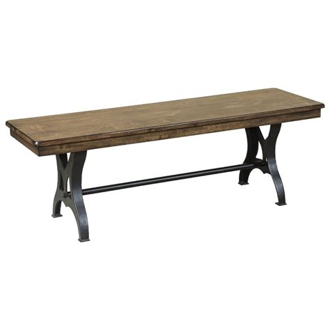 wood dining benches 54 quot backless wood and metal industrial dining bench by