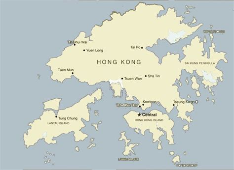 map of hong kong hong kong maps attractions streets roads and transport map