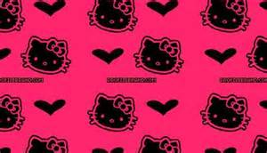 47 pink and black hello kitty background free wallpapers