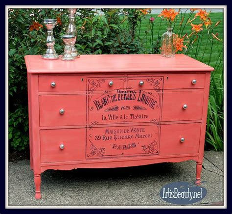 Colorful Dressers Furniture by 1000 Ideas About Coral Painted Furniture On
