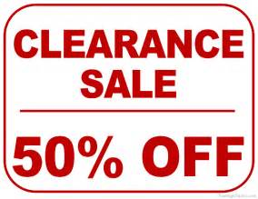 printable 50 percent off clearance sale sign