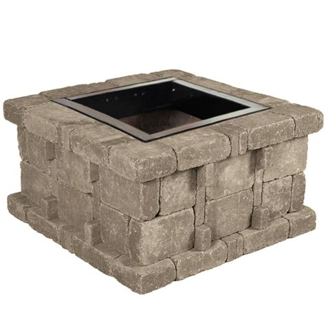 rumblestone pit pavestone 40 in w x 14 in h rockwall pit kit palomino rwk54581 the home depot