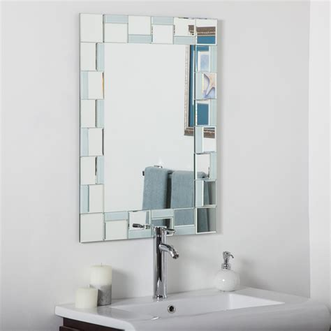 Decor Wonderland Ssm310710 Quebec Modern Bathroom Mirror Modern Mirrors Bathroom