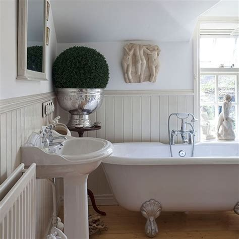 panelled bathroom ideas panelled bathroom with roll top bath decorating