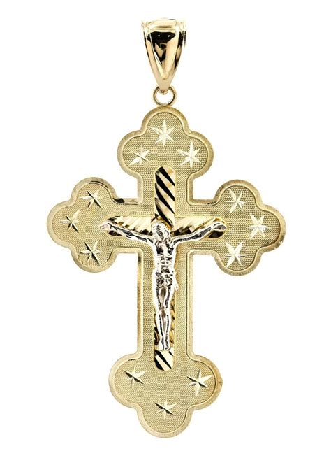 big gold cross 10k yellow gold pendant 5 9 grams frostnyc