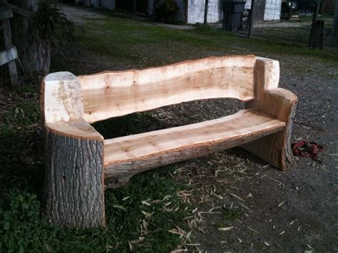 log bench seat this bench was made from and urban poplar tree all the