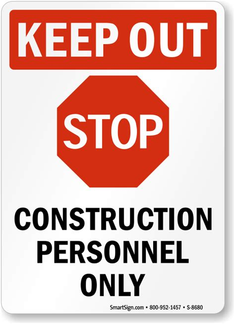 How To Make A Stop Sign Out Of Paper - stop construction personnel only sign sku s 8680