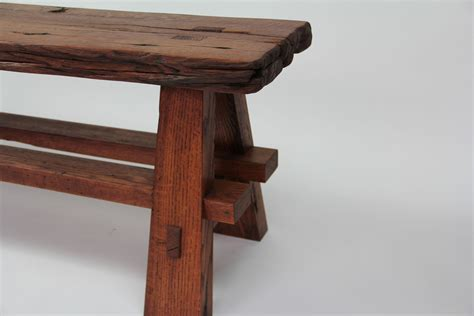 rustic wood bench hand crafted rustic reclaimed barnwood bench by