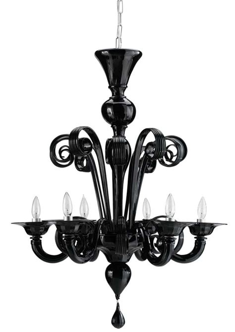 Black Murano Glass Chandelier Design Within Reach Murano Glass Chandelier In Black Dwr Interior Accoutrements