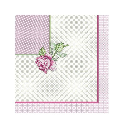 schemi punto croce cuscini schemi punto croce cuscino fiore rosa libri schemi e