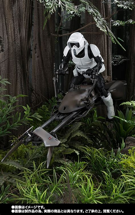 Bandai 112 Wars Scout Trooper Speeder Bike sh figuarts scout trooper speeder bike figure mightymega