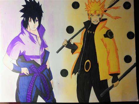 imagenes realistas de naruto como dibujar a naruto y sasuke en modo sabio de los 6