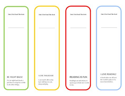 free printable bookmarks with quotes free printable cute girls bookmark parenting times