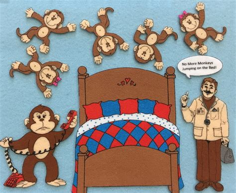 monkeys on the bed monkeys in the bed felt fantasies monkeys jumping on the bed