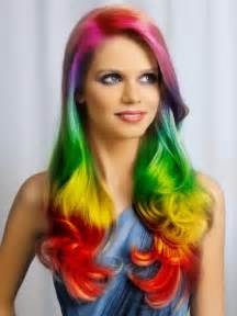 hairstyles for of color 2014 ombre highlights trend 30 rainbow colored