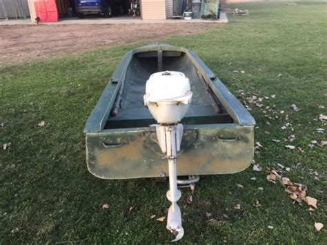 3 hp johnson boat motor original lund ducker duck boat with johnson 3hp motor 2