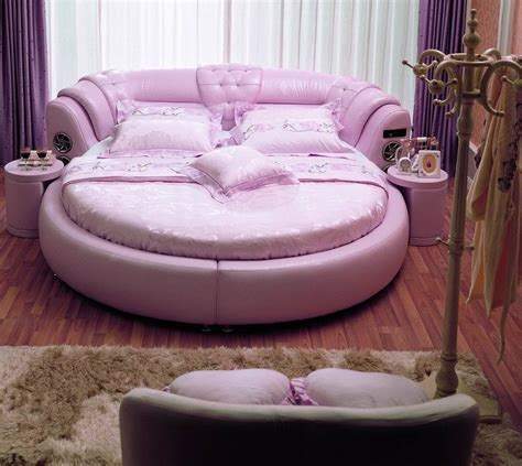 round leather bed china round leather bed a021 china leather bed
