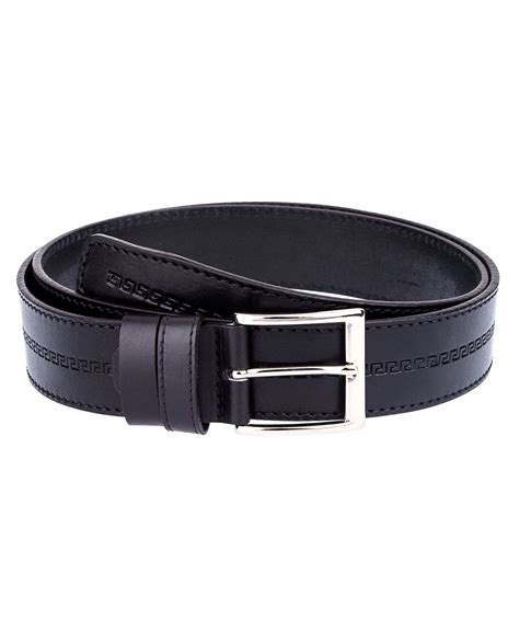 buy embossed leather belt wide leatherbeltsonline