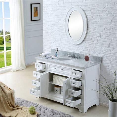 Derby 48 Inch Traditional Bathroom Vanity Marble Bathroom Vanities Solid Wood Construction