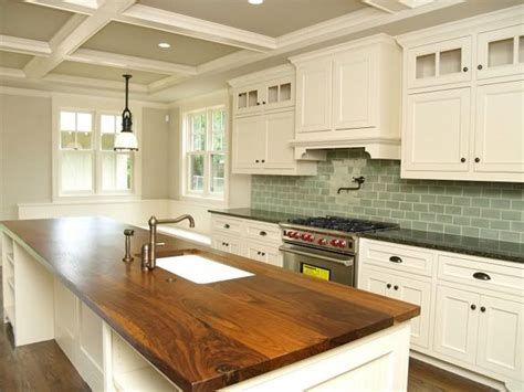 the butcher block counters kitchen inspiration