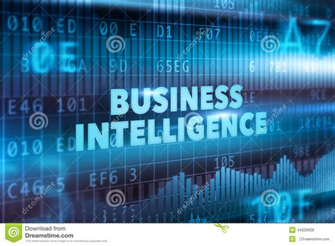 business intelligence technology concept stock
