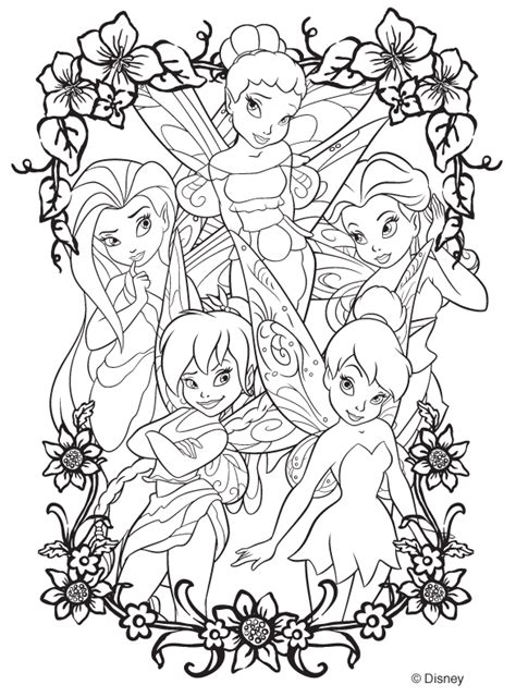 tinkerbell coloring pages adult free printable disney fairies coloring pages sheet