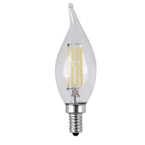 Led Light Bulbs Candelabra Feit Electric 40w Equivalent Daylight Ca10 Dimmable Clear Filament Led Candelabra Base Light