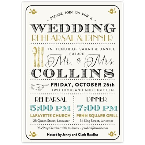 rehearsal dinner invitations typography mix rehearsal dinner invitations paperstyle