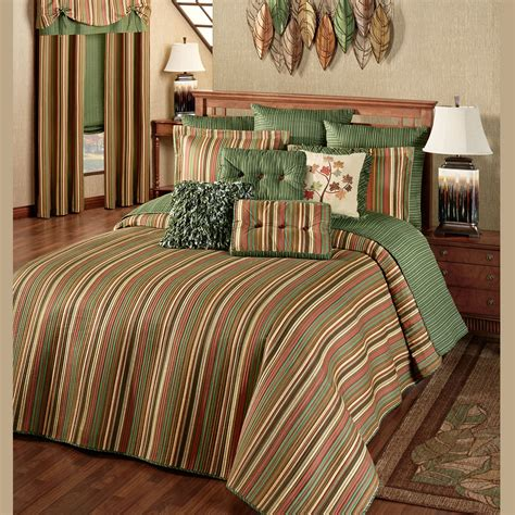 Riverpark Striped Quilted Oversized Bedspread Bed Spreads