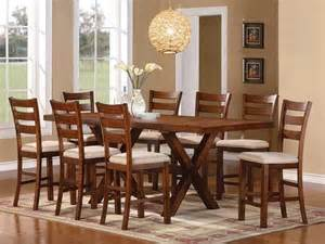 Counter Height Dining Table For 8 Daryn Oak Finish Counter Height Dining Table 8 Chairs Furniture 2 Go