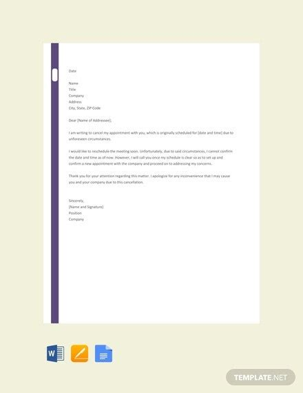 cancellation letter templates