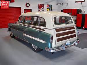 1954 chevy belair wagon rear 3 4 flickr photo