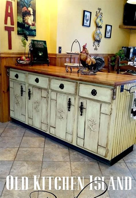 Decoupage Kitchen Cupboards - kitchen cabinet island makeover hometalk