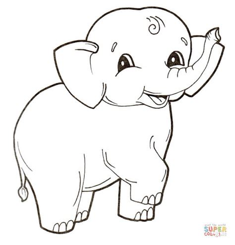 what color is an elephant baby elephant coloring page free printable coloring